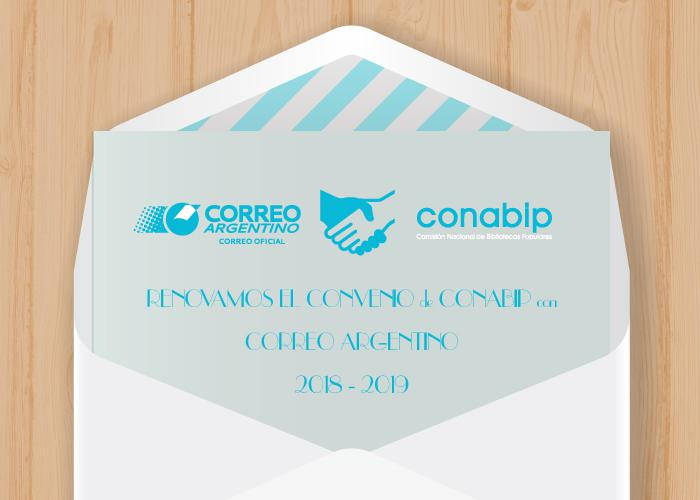 Renovación de Convenio entre la CONABIP y el Correo Argentino.